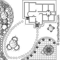 vector Landscape Plan