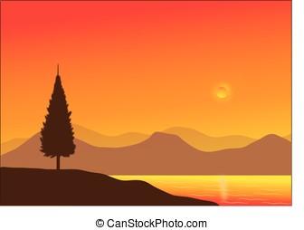 vector, landscape