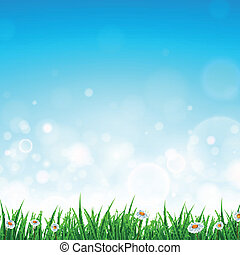 Vector Landscape with Grass