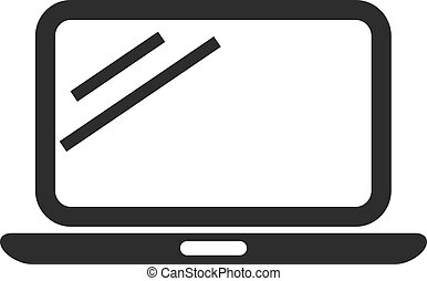 Vector Laptop Black Icon