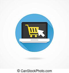 Vector Laptop Buy Online Icon
