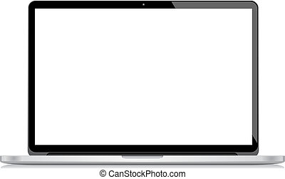 Vector Laptop isolated on white bac