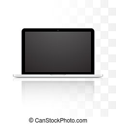 Vector laptop isolated on white background