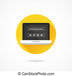 Vector Laptop Login Page Icon