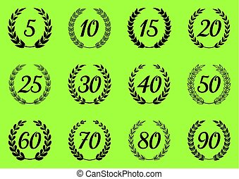 Vector laurel wreaths symbols