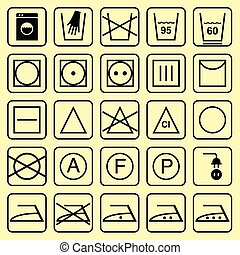vector, lavado, señales