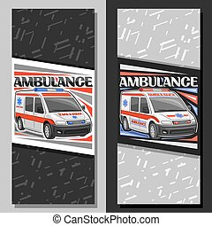 Vector layouts for Ambulance
