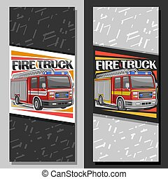 Vector layouts for Fire Truck
