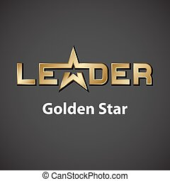 vector leader golden star