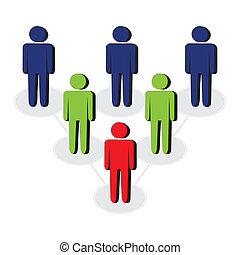 vector leadership concept