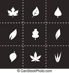 Vector leaf icon set