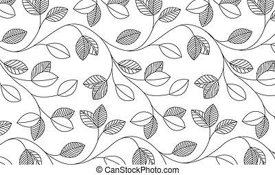 Vector - Leaf pattern - Vektor - Blaettermuster - Vector...