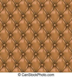 Vector Leather background with buttons.