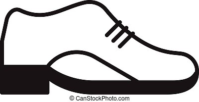 Vector leather shoe icon