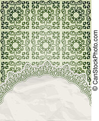 vector lecy napkin on floral background