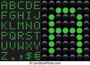 Vector LED - light emitting diode - info panel. Score board...