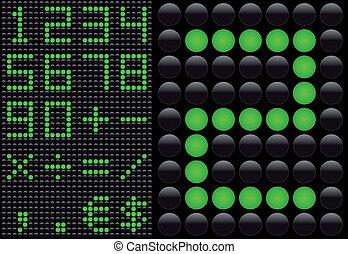 Vector LED - light emitting diode - info panel. Score board...