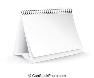 vector, leeg, bureau kalender