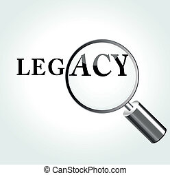Vector illustration of legacy concept with magnifying