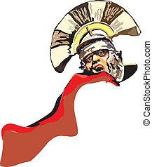Vector - Legionnaire (roman soldier) on white