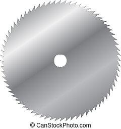 vector, lemmet, zaag, illustratie