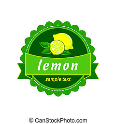 Vector lemon fresh labels.