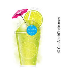 Vector lemon smoothie