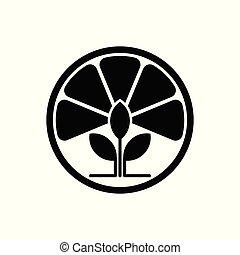 Vector Lemon Tea Leaf Logo template design and support icon modern.