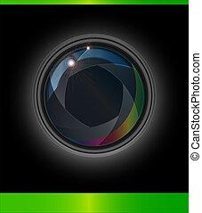 Vector Lenses Aperture Background