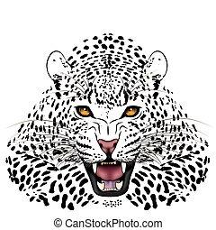 Leopard, tattoo - Vector Leopard, tattoo