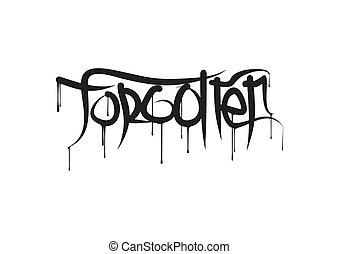vector, letras, estilo, text., illustration., moderno, ...