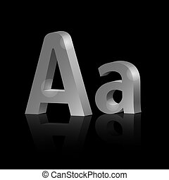 Vector letter A