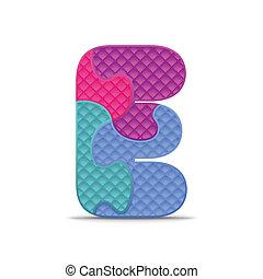 Vector letter E