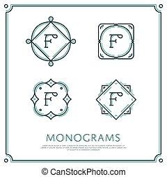 Vector Letter F Monogram.
