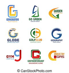 Vector letter G icons for corporate identity - Letter G...