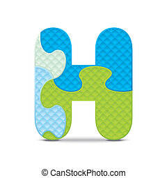 Vector letter H