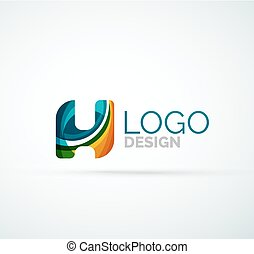Vector letter logo - Vector alphabet letter logo. Created ...