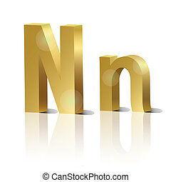Vector letter N