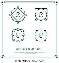 Vector Letter O Monogram.