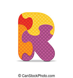 Vector letter R