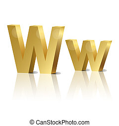 Vector letter W