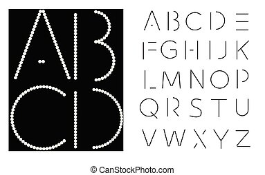 Vector lettering - font alphabet.