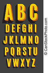 vector, lettertype, type, retro
