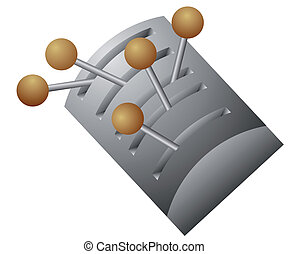vector lever switch - Vector illustration of the lever...