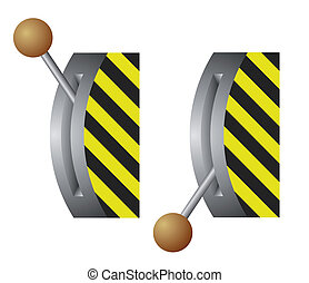 vector lever switch - Vector illustration of the lever ...
