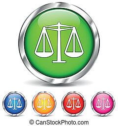 vector, ley, iconos
