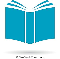 vector, libro, icono