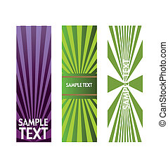 vector, licht, set, spandoek, effecte