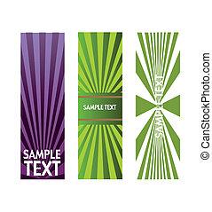 vector, licht, set, spandoek, effecte