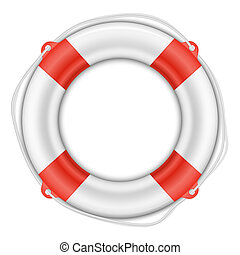 Life Buoy isolated on white - Vector Life Buoy isolated on...
